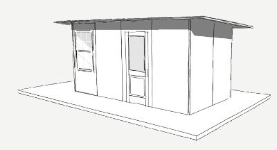 128 sq ft shelter panel plan