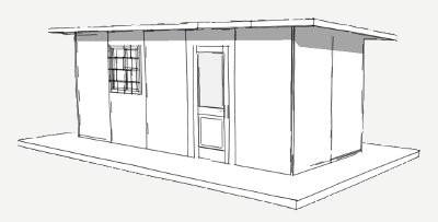 160 sq ft shelter panel plan