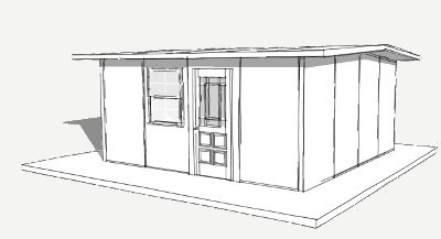 256 sq ft shelter house plan