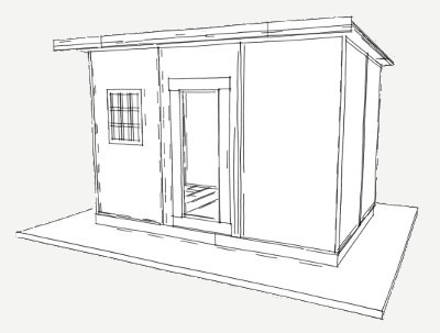 96 sq ft shelter panel plan