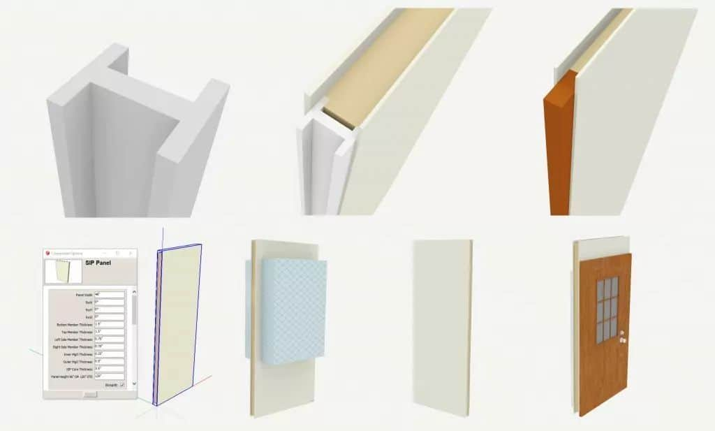 Design Center 3D SIP Panel Sketchup Models