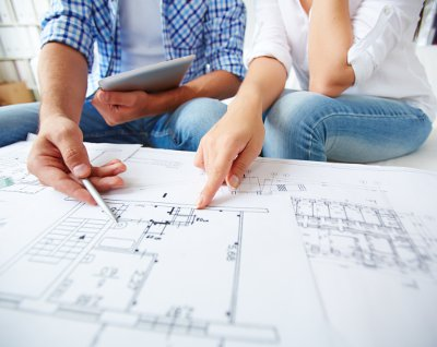 Architectural drawing ~ Building with SIPs